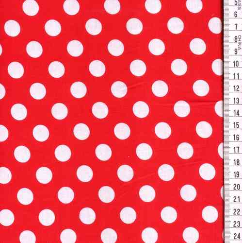 fond ROUGE, pois blancs,