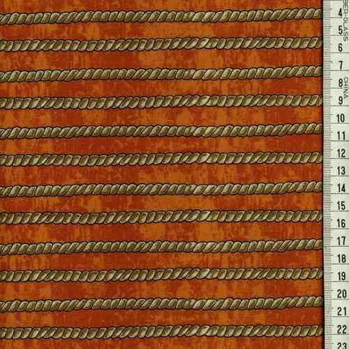 10165-31 rayé,corde marron, fond orange